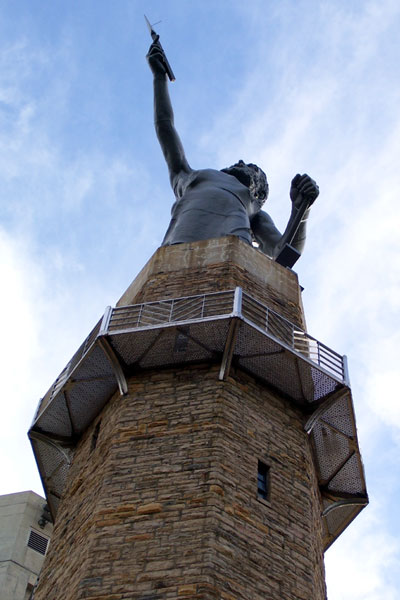 Looking up at Vulcan