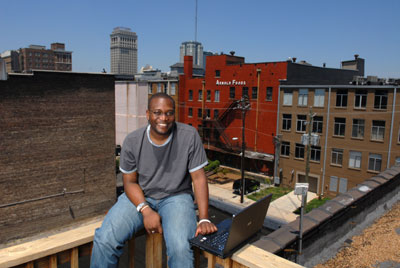 Andre on the roof